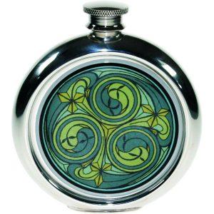 Personalised Green 6oz Kells Hip Flask