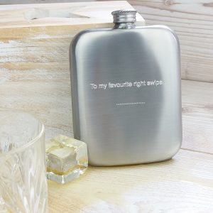 Personalised Distressed Cushion Hip Flask