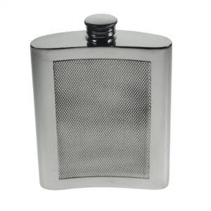 Personalised 6 oz Barley Pewter Kidney Hip Flask