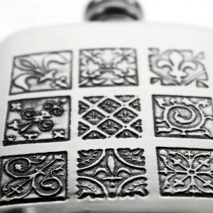 Personalised 4 oz Medieval Pewter Kidney Hip Flask