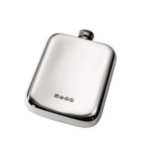 Personalised 6 oz Plain Pewter Pocket Hip Flask