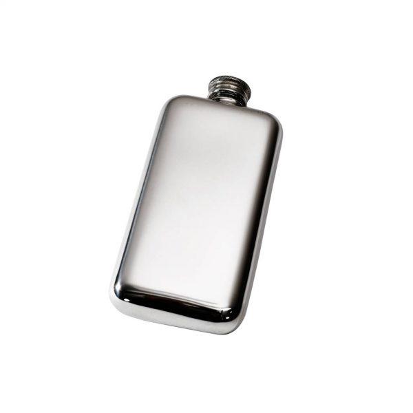 Personalised 3 oz Plain Pewter Pocket Hip Flask