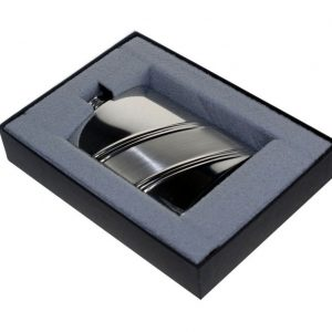 Personalised Diagonal Stripe Hip Flask with Free Engraving