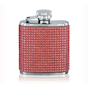 Pink Diamante Hip Flask
