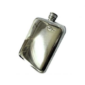 6oz Cushion Engraved Hip Flask with Free Engraving