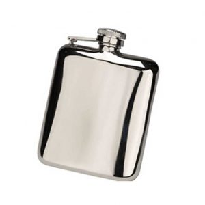 Steel Cushion Hip Flask with Free Engraving