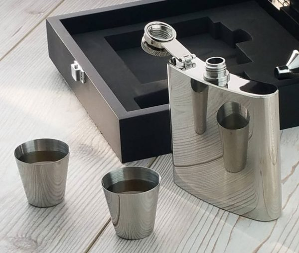 Personalised Luxury Hip Flask Presentation Set