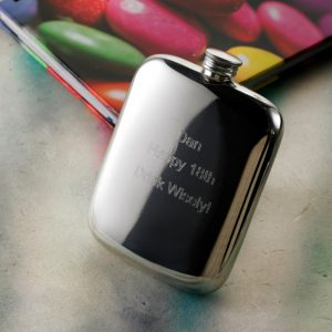 Free Delivery and Engraving 4oz Cushion Hip Flask
