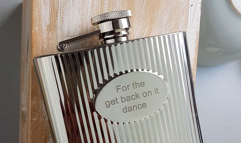 Free Hip Flask Engraving - Personalised Hip Flasks Australia